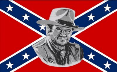 REBEL JOHN WAYNE (CONFEDERATE) - 5 X 3 FLAG